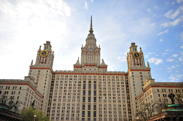 Main building in Moscow state university