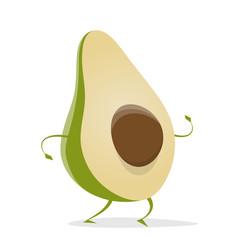 funny cartoon avocado