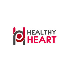 Healthy heart medical vector letter H icon
