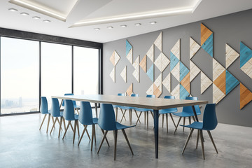 Modern meeting room side
