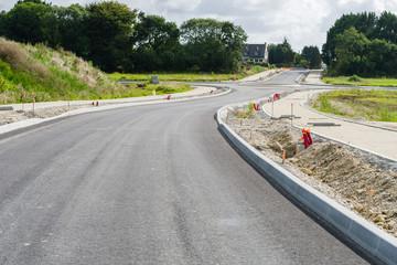 Construction d'un carrefour giratoire