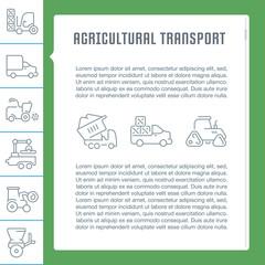 Website Banner and Landing Page of Agricultural Transport.