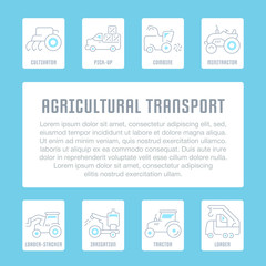 Website Banner and Landing Page of Agricultural Transport.