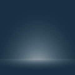 Abstraction of soft smooth dark blue with light of floor gradient for template background. Illustration vector eps10