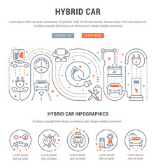 Website Banner and Landing Page of Hybrid Car.