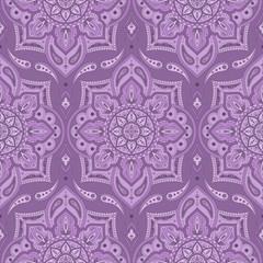 Floral indian paisley pattern vector seamless. Vintage flower ethnic ornament for silk scarf print fabric. Oriental folk design for boho bedlinen, yoga clothing, turkish luxury wedding, kashmir shawl.
