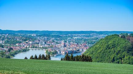 Passau von Österreich aus gesehen