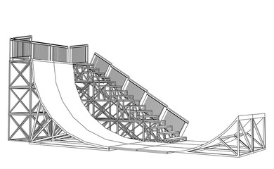 Ramp concept outline. Vector