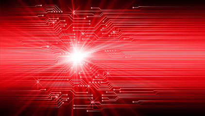 binary circuit board future technology, red cyber security concept background, abstract hi speed digital internet.motion move blur. pixel vector