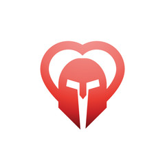 Spartan Red love Logo