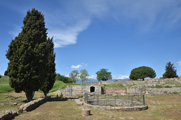 Ruines romaines à Aléria en Corse