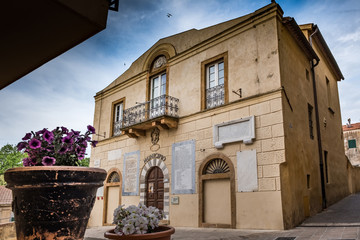 Bibbona in the Val di Cecina, Livorno, Tuscany, Italy - old seat of municipality
