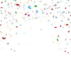 Celebration carnival. Bright colorful vector confetti background.