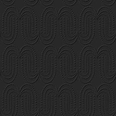 3D dark paper art Round Curve Dot Line