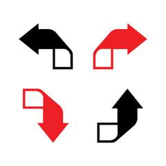 arrow sign logo