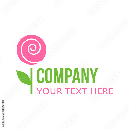 Florist Flower Garden Shop Or Company Vector Logo Template