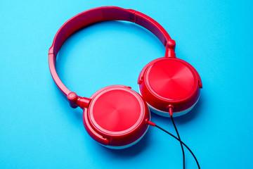 Photo of red headphones on top