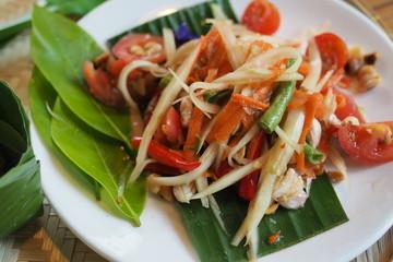 Thai Papaya Salad Tomato Organic Food