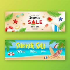 Summer sale promotion banner background