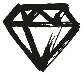Pen Diamond Freehand Pattern & Background Element Set 02