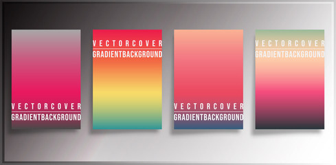 Colorful gradient covers minimal design
