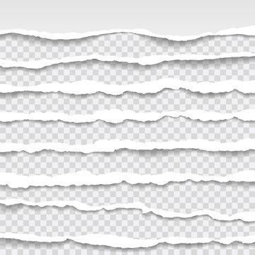 torn paper edges, seamless horizontally texture, vector isolated in space for advertising, banner of web page, border and header, print concept of illustration