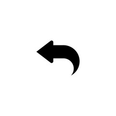 left arrow icon. sign design