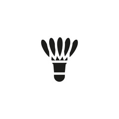 badminton shuttlecock icon. sign design