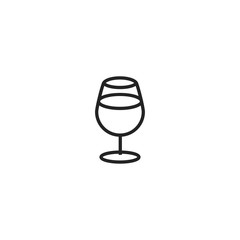 wine glass icon. sign design