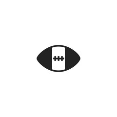 american football icon. sign design