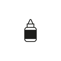 sauce bottle icon. sign design