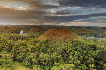 Keuken foto achterwand Heuvel Spectacular look at the chocolate hills, Bohol, Philippines