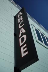 Arcade entrance sign
