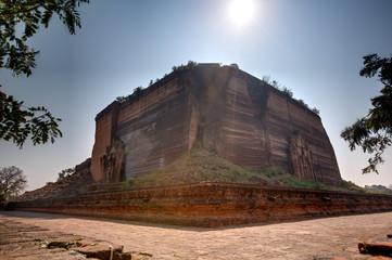 Mingun Pahtodawgyi temple in Min Kun, Myanmar