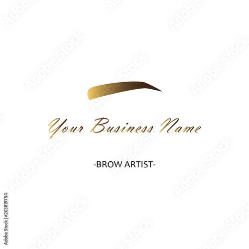 Logo for eyebrow studio