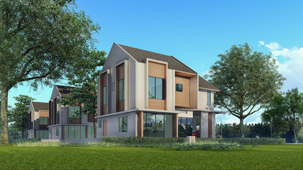 3D Rendering Architectural House