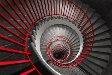 Spiral staircase, abstract wallpaper