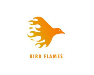 Bird flames logo