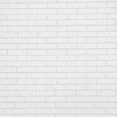 vector realistic white brick wall background. square format