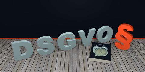 """Konzept """"DSGVO"""" Datenschutz-Grundverordnung, 3d rendering"""