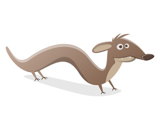 funny cartoon weasel or marten