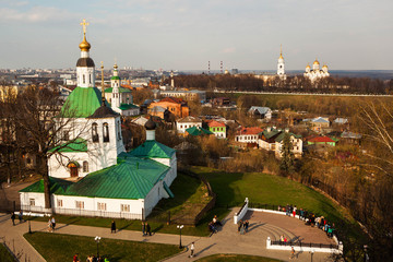 The view of Vladimir from high angle.