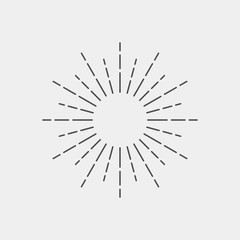 Sparkle flat vector icon. Sunshine flat vector icon. Glow flat vector icon
