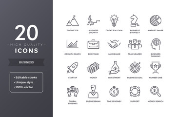 Business Line Icons