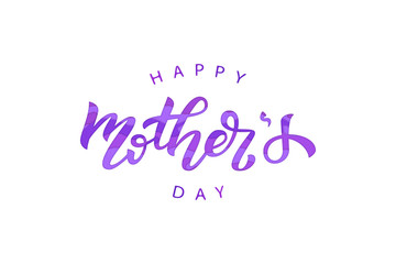 Vector realistic isolated typography for Mother's Day with paper cut layer design for decoration and covering on the purple background. Concept of Happy Mothers Day.