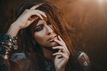 beautiful hippy woman