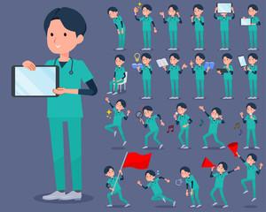 flat type surgical operation green wear men_2