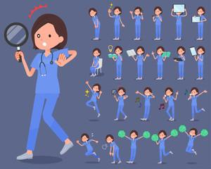 flat type surgical operation blue wear women_2