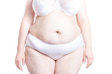 woman with overweight, obesity