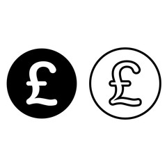 Pound Sterling currency symbol icon